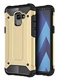 Dafoni Tough Power Samsung Galaxy A8 Plus 2018 Ultra Koruma Gold Kılıf