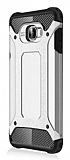 Dafoni Tough Power Samsung Galaxy C5 Pro Ultra Koruma Silver Kılıf