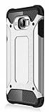 Dafoni Tough Power Samsung Galaxy C7 Pro Ultra Koruma Silver Kılıf