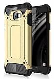 Tough Power Samsung Galaxy C7 SM-C7000 Ultra Koruma Gold Kılıf