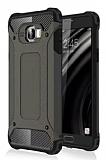 Dafoni Tough Power Samsung Galaxy C7 SM-C7000 Ultra Koruma Gun Black Kılıf