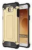 Dafoni Tough Power Samsung Galaxy C9 Pro Ultra Koruma Gold Kılıf