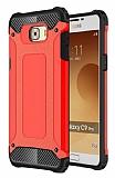 Dafoni Tough Power Samsung Galaxy C9 Pro Ultra Koruma Kırmızı Kılıf