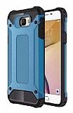 Dafoni Tough Power Samsung Galaxy J5 Prime Ultra Koruma Mavi Kılıf