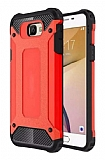 Dafoni Tough Power Samsung Galaxy J5 Prime Ultra Koruma Kırmızı Kılıf