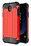 Dafoni Tough Power Samsung Galaxy J5 Pro 2017 Ultra Koruma Kırmızı Kılıf