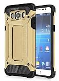 Dafoni Tough Power Samsung Galaxy J7 2016 Ultra Koruma Gold Kılıf