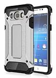 Dafoni Tough Power Samsung Galaxy J7 2016 Ultra Koruma Silver Kılıf