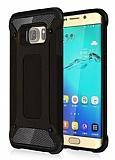 Dafoni Tough Power Samsung Galaxy S6 Edge Ultra Koruma Siyah Kılıf