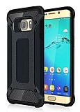 Dafoni Tough Power Samsung Galaxy S6 Edge Ultra Koruma Gun Black Kılıf