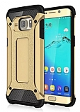 Dafoni Tough Power Samsung Galaxy S7 Edge Ultra Koruma Gold Kılıf
