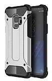 Dafoni Tough Power Samsung Galaxy S9 Ultra Koruma Silver Kılıf