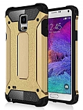 Dafoni Tough Power Samsung N9100 Galaxy Note 4 Ultra Koruma Gold Kılıf