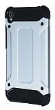 Dafoni Tough Power Asus Zenfone Live ZB501KL Ultra Koruma Silver Kılıf