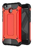 Dafoni Tough Power Xiaomi Redmi 4X Ultra Koruma Kırmızı Kılıf