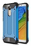 Tough Power Xiaomi Redmi Note 5 / Redmi 5 Plus Ultra Koruma Mavi Kılıf