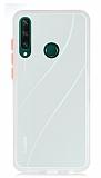 Dafoni Union Huawei Y6P Ultra Koruma Beyaz Kılıf