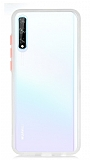 Dafoni Union Huawei Y8P Ultra Koruma Beyaz Kılıf