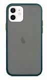 Dafoni Union iPhone 12 / iPhone 12 Pro 6.1 inç Ultra Koruma Yeşil Kılıf