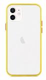Dafoni Union iPhone 12 / iPhone 12 Pro 6.1 inç Ultra Koruma Sarı Kılıf
