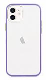 Dafoni Union iPhone 12 / iPhone 12 Pro 6.1 inç Ultra Koruma Mor Kılıf