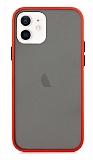 Dafoni Union iPhone 12 / iPhone 12 Pro 6.1 inç Ultra Koruma Kırmızı Kılıf