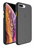 Dafoni Union iPhone 7 Plus / 8 Plus Ultra Koruma Siyah Kılıf