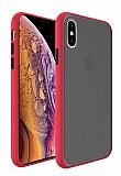 Dafoni Union iPhone XS Max Ultra Koruma Kırmızı Kılıf