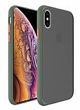 Dafoni Union iPhone XS Max Ultra Koruma Yeşil Kılıf