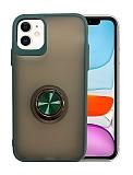 Dafoni Union Ring iPhone 11 Ultra Koruma Yeşil Kılıf