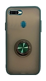 Dafoni Union Ring Oppo AX7 / Oppo A5s Ultra Koruma Yeşil Kılıf