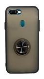 Dafoni Union Ring Oppo AX7 / Oppo A5s Ultra Koruma Siyah Kılıf