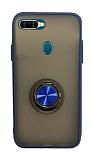 Dafoni Union Ring Oppo AX7 / Oppo A5s Ultra Koruma Lacivert Kılıf