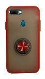Dafoni Union Ring Oppo AX7 / Oppo A5s Ultra Koruma Kırmızı Kılıf