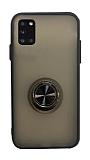 Dafoni Union Ring Samsung Galaxy A31 Ultra Koruma Siyah Kılıf