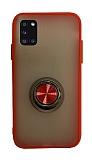 Dafoni Union Ring Samsung Galaxy A31 Ultra Koruma Kırmızı Kılıf