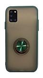 Dafoni Union Ring Samsung Galaxy A31 Ultra Koruma Yeşil Kılıf