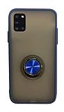 Dafoni Union Ring Samsung Galaxy A31 Ultra Koruma Lacivert Kılıf