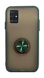 Dafoni Union Ring Samsung Galaxy A51 Ultra Koruma Yeşil Kılıf
