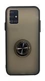 Dafoni Union Ring Samsung Galaxy A51 Ultra Koruma Siyah Kılıf