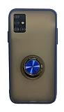 Dafoni Union Ring Samsung Galaxy A51 Ultra Koruma Lacivert Kılıf