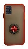Dafoni Union Ring Samsung Galaxy A51 Ultra Koruma Kırmızı Kılıf