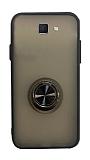Dafoni Union Ring Samsung Galaxy J7 Prime / J7 Prime 2 Ultra Koruma Siyah Kılıf