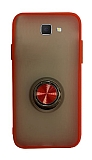 Dafoni Union Ring Samsung Galaxy J7 Prime / J7 Prime 2 Ultra Koruma Kırmızı Kılıf