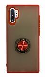 Dafoni Union Ring Samsung Galaxy Note 10 Plus Ultra Koruma Kırmızı Kılıf