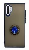 Dafoni Union Ring Samsung Galaxy Note 10 Plus Ultra Koruma Lacivert Kılıf