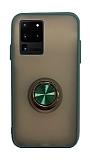 Dafoni Union Ring Samsung Galaxy S20 Ultra Süper Koruma Yeşil Kılıf