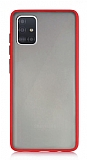 Dafoni Union Samsung Galaxy A71 Ultra Koruma Kırmızı Kılıf