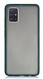 Dafoni Union Samsung Galaxy A71 Ultra Koruma Yeşil Kılıf