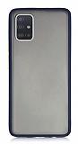Dafoni Union Samsung Galaxy A71 Ultra Koruma Lacivert Kılıf